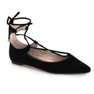 NEW TopShop Finest Shillie Lace-Up Pointy Toe Flat